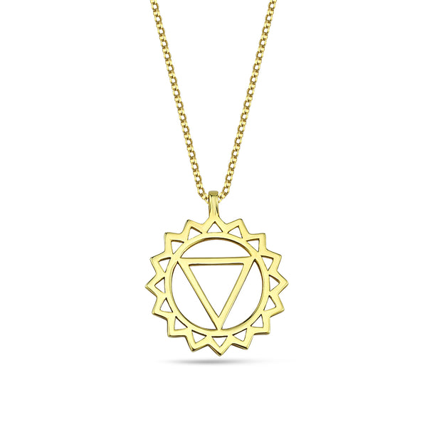 Throat Chakra Gold Necklace | FeelHeal.me