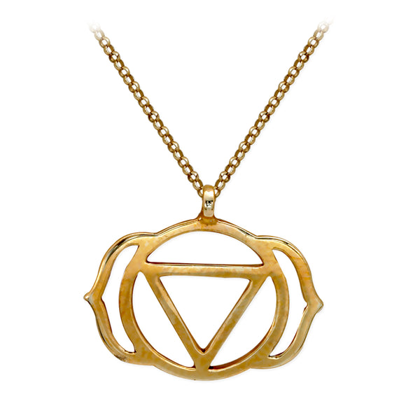 3rd Eye Chakra (Ajna) Gold Necklace | FeelHeal.me