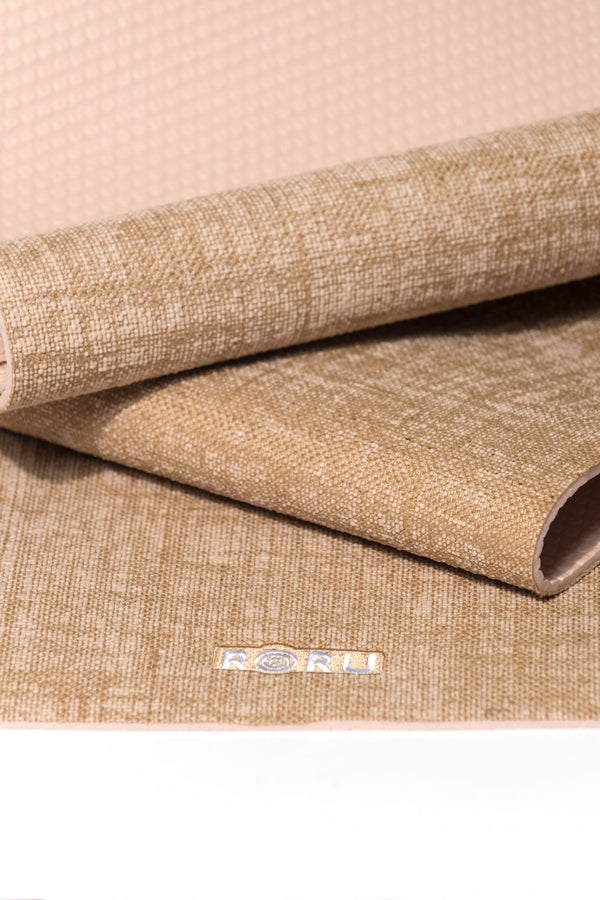 Natural Series Jute Top Layer Yoga Mat - KHAKI | FeelHeal.me