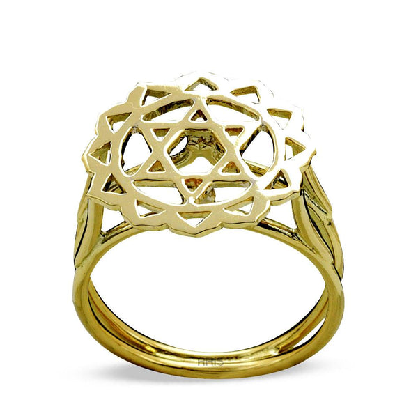 Heart Chakra (Anahata) Gold Ring | FeelHeal.me