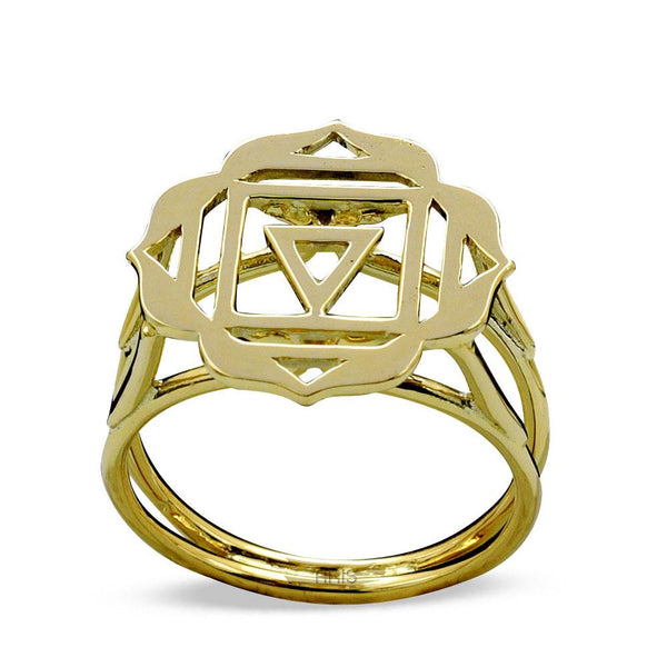 Root Chakra Gold Ring | FeelHeal.me