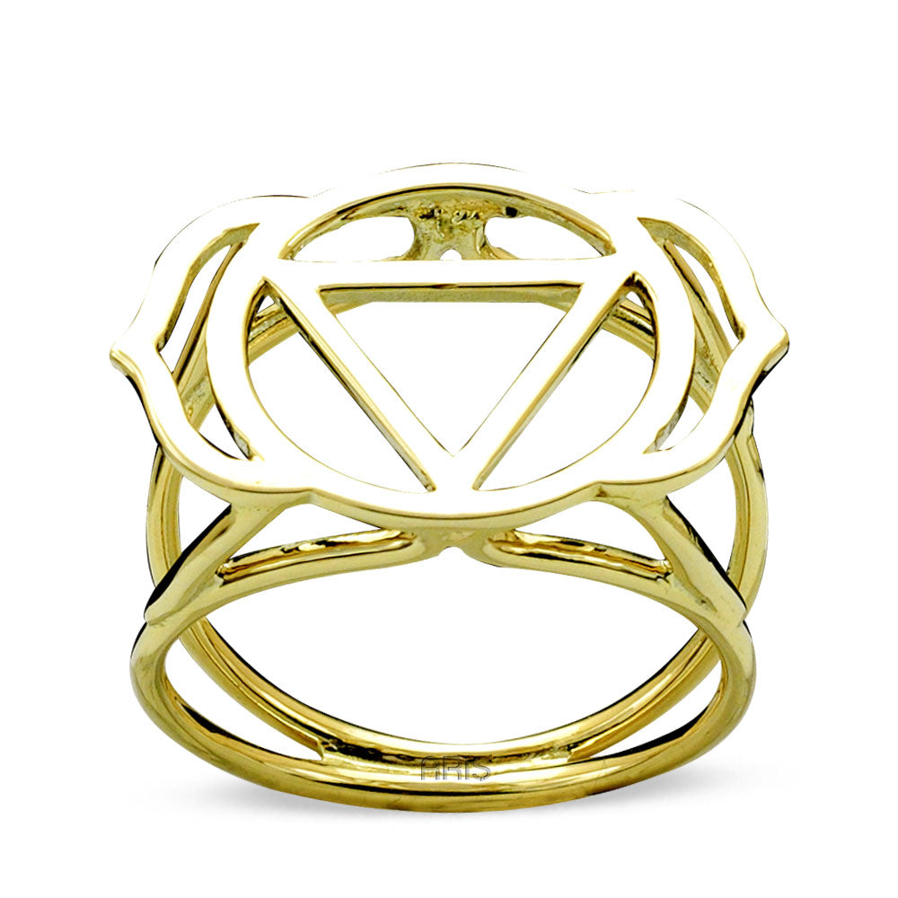 3rd Eye Chakra Gold Ring | FeelHeal.me