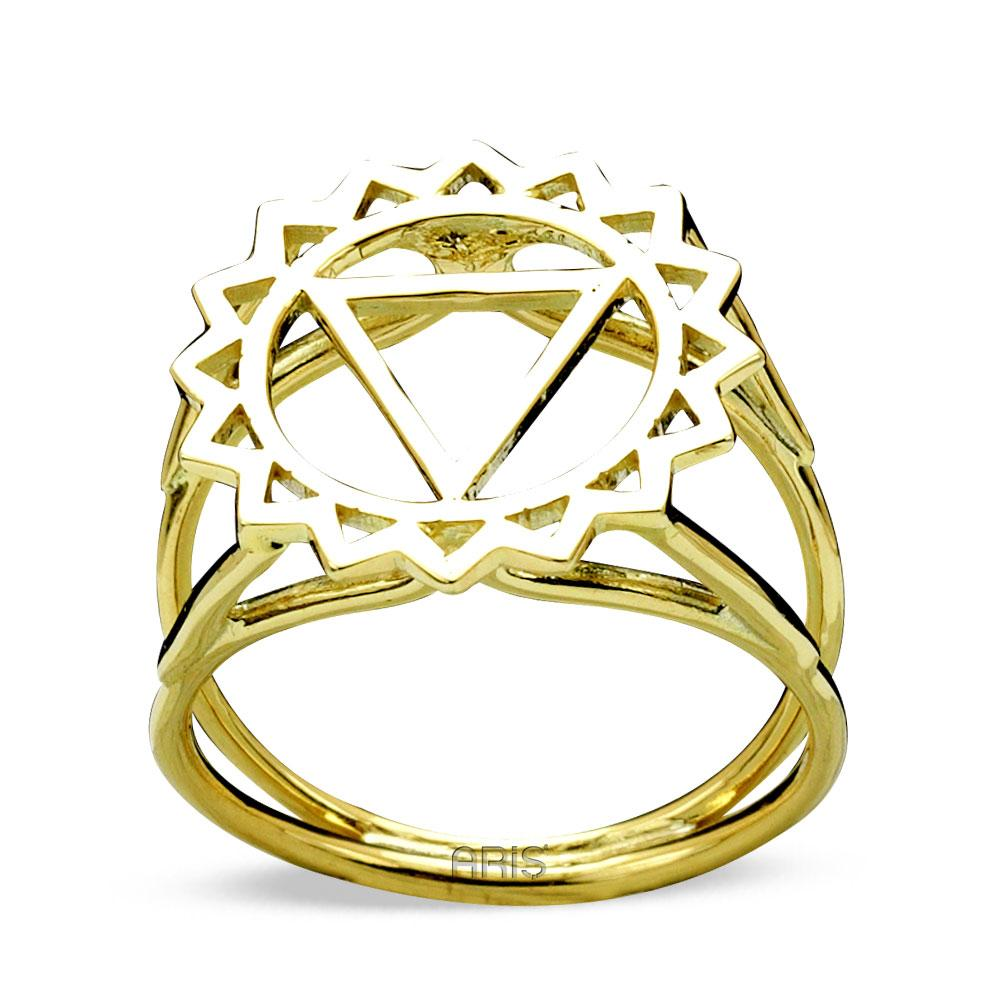 Throat Chakra (Vishdhidha) Gold Ring | FeelHeal.me