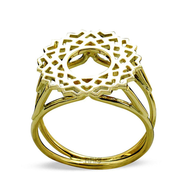 Crown Chakra (Sahashrara) Gold Ring | FeelHeal.me