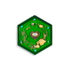 Eye Ornamented Green Hexagon Coaster | FeelHeal.me