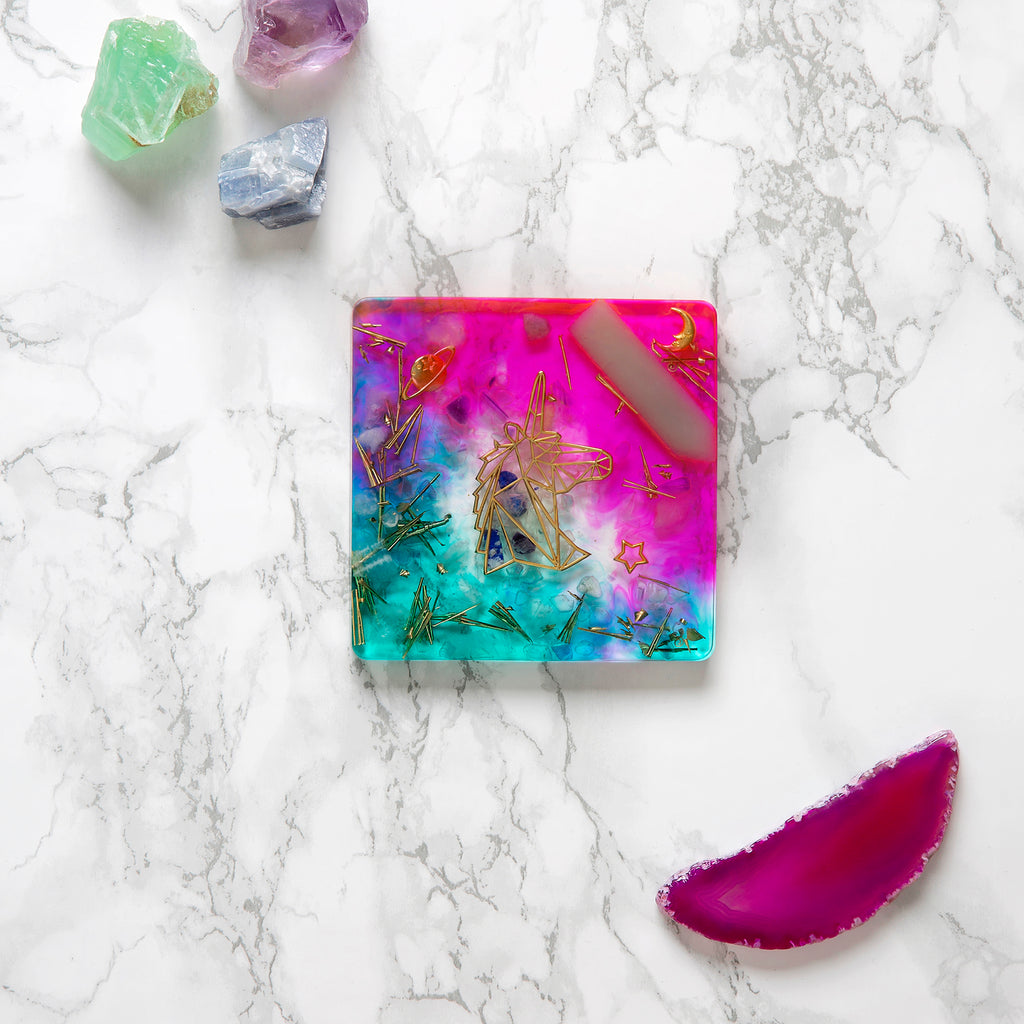 Unicorn Coaster (Square) | FeelHeal.me