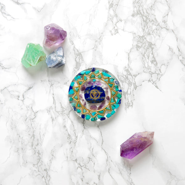 Throat Chakra Coaster | FeelHeal.me