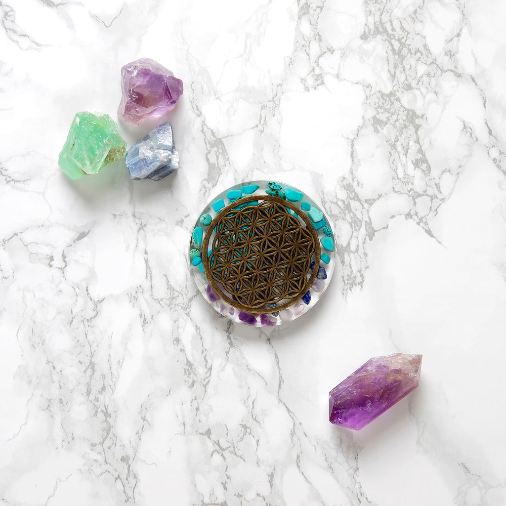 Flower Of Life Coaster | FeelHeal.me
