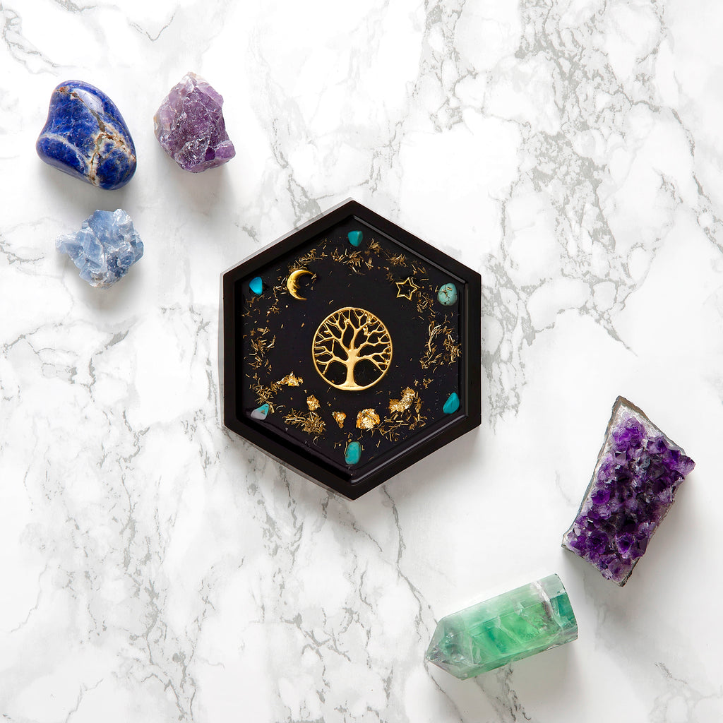 Tree of Life Hexagon Coaster | FeelHeal.me