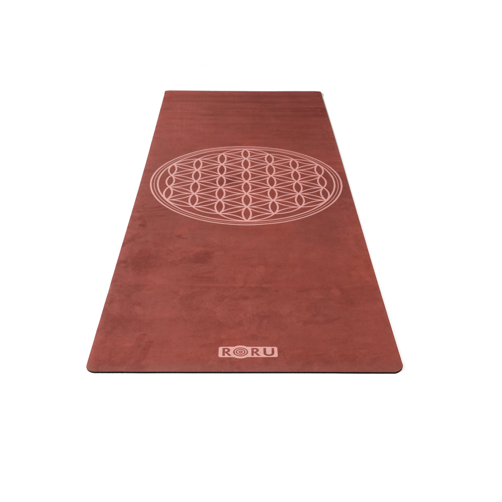 Moon Series Microfiber Top Layer Yoga Mat - Flower Of Life | FeelHeal.me