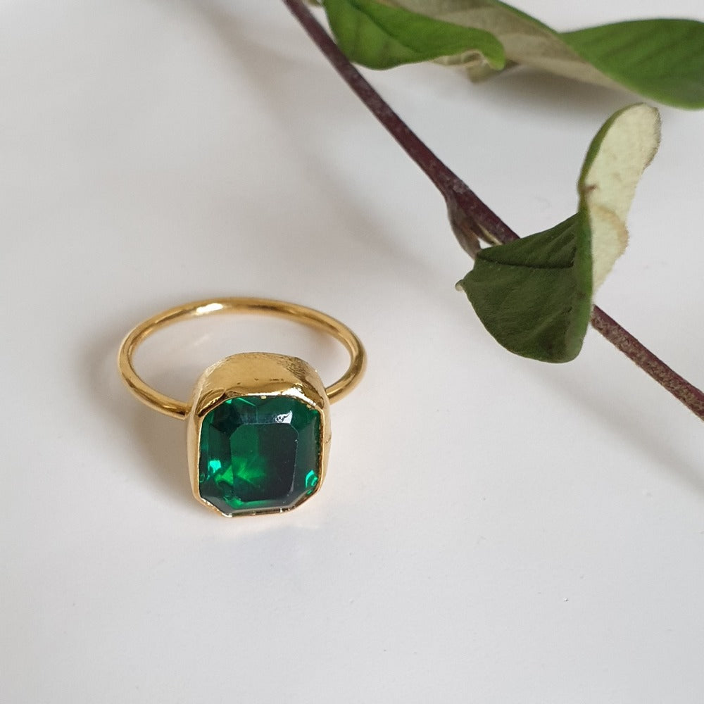 Green Zircon Ring | FeelHeal.me