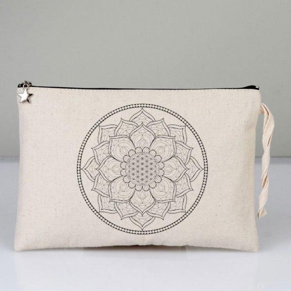 Mandala Portfolio Bag and Textile Pen Set | FeelHeal.me