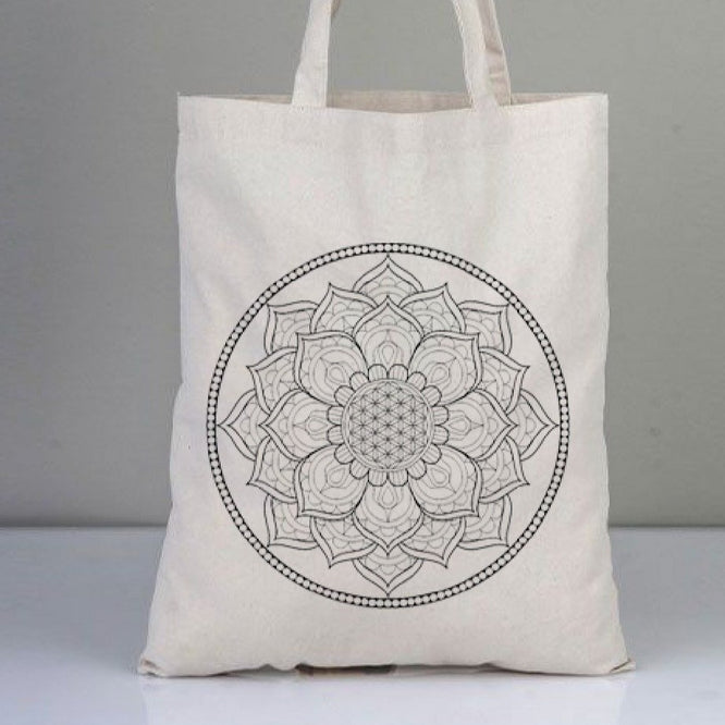Mandala Shoulder Bag and Textile Pen Set | FeelHeal.me