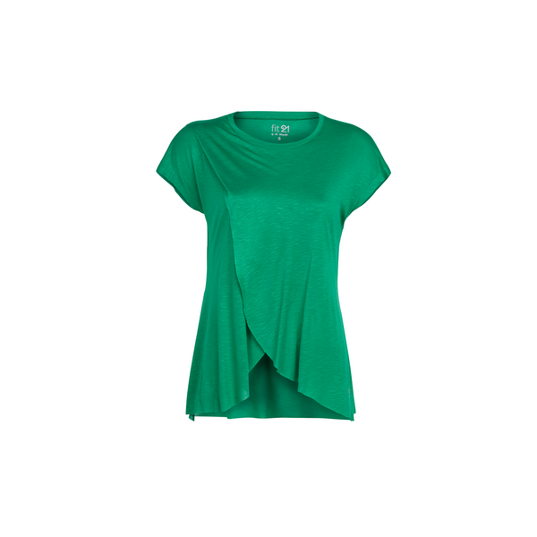 3 Layer Pleated Blouse Green | FeelHeal.me