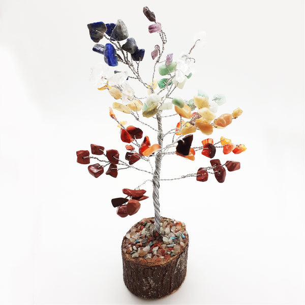 Natural Stone 7 Chakra Tree | FeelHeal.me