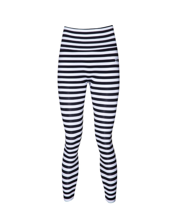 Leggings Black and White Striped | FeelHeal.me
