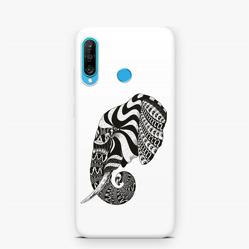 Huawei P30 Lite Ethnic Drawing Elephant Head Design Case | FeelHeal.me