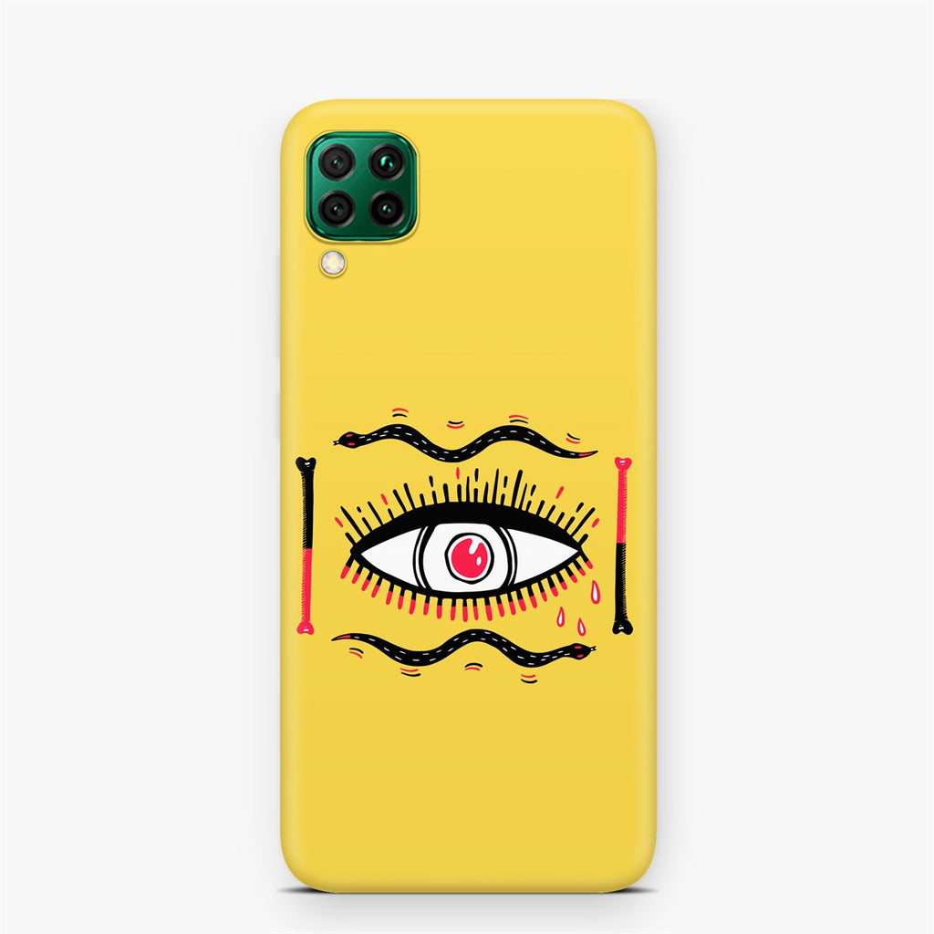 Huawei P40 Lite Ethnic Eye Design Case | FeelHeal.me
