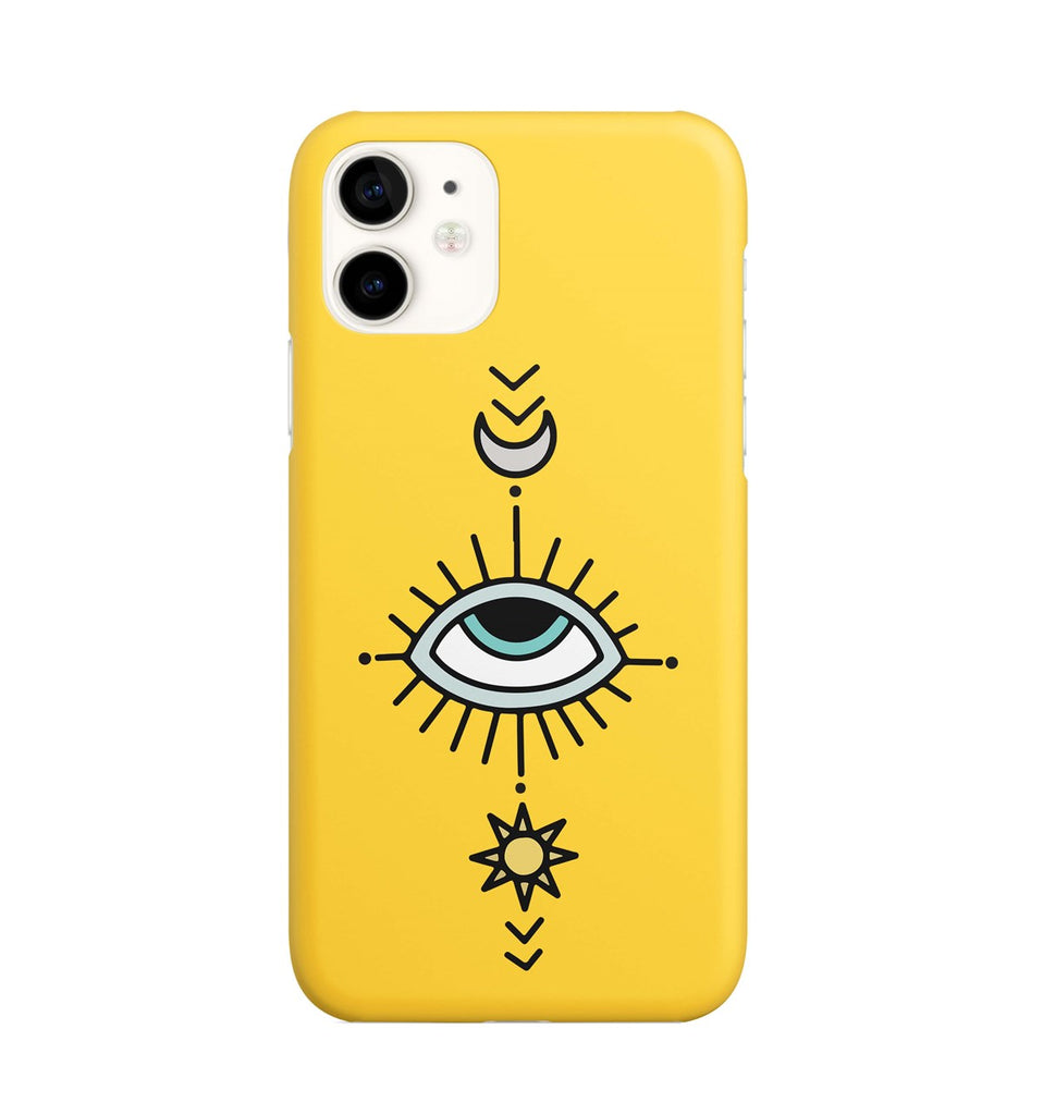 iPhone 11 Ethnic Eye Design Compass Pattern Case | FeelHeal.me