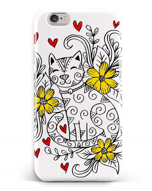 iPhone 6-6s Plus Ethnic Cat Flower Pattern Phone Case | FeelHeal.me