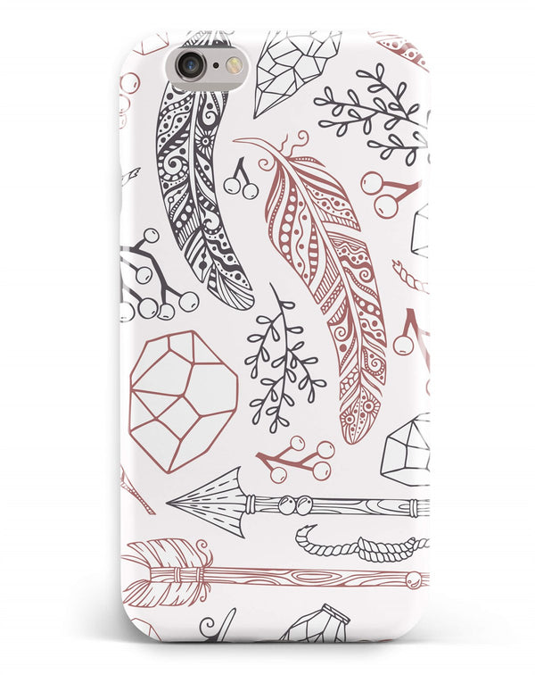iPhone 6-6s Plus Ethnic Icon Feather Pattern Phone Case | FeelHeal.me