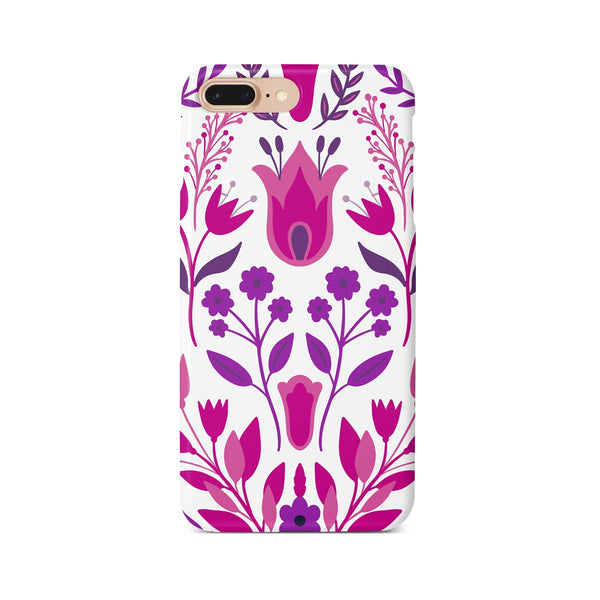 iPhone 7-8 PLUS Ethnic Pink Purple Flower Pattern Phone Case | FeelHeal.me