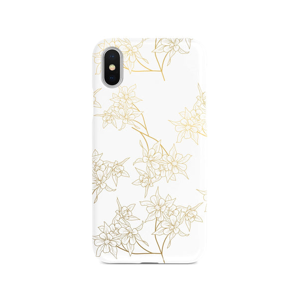 iPhone X Ethnic Flower Gold Pattern Phone Case | FeelHeal.me