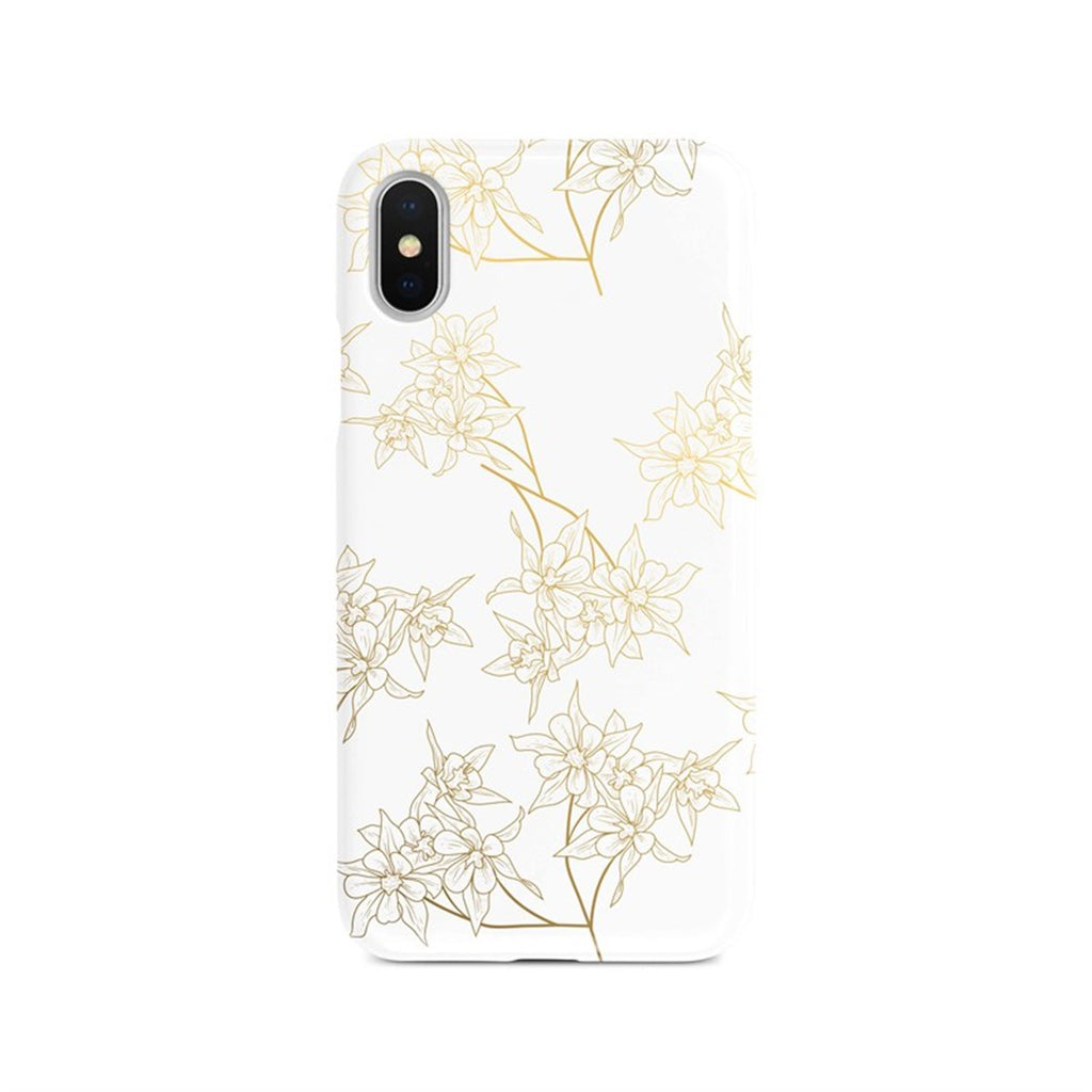 iPhone Xs Max Ethnic Flower Gold Pattern Phone Case | FeelHeal.me