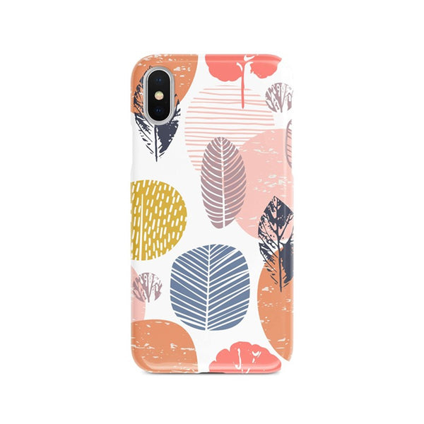 iPhone Xs Max Ethnic Line Floral Colorful Pattern Phone Case | FeelHeal.me