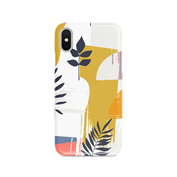 iPhone X Ethnic Leaf Yellow Pattern Phone Case | FeelHeal.me