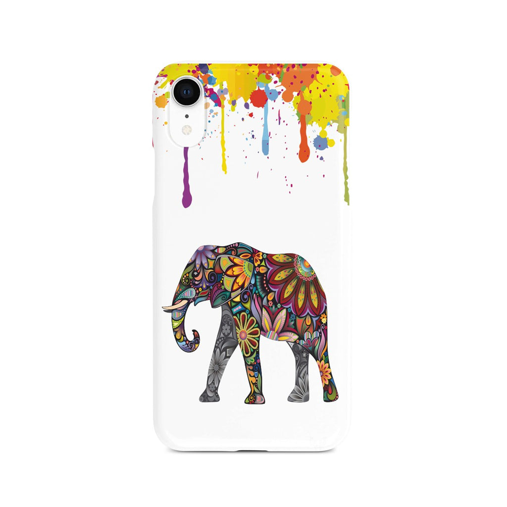 iPhone Xr Ethnic Embroidery Patterned Elephant Design Case | FeelHeal.me