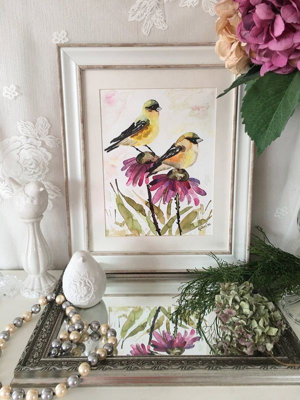 Canary Watercolor Painting | FeelHeal.me