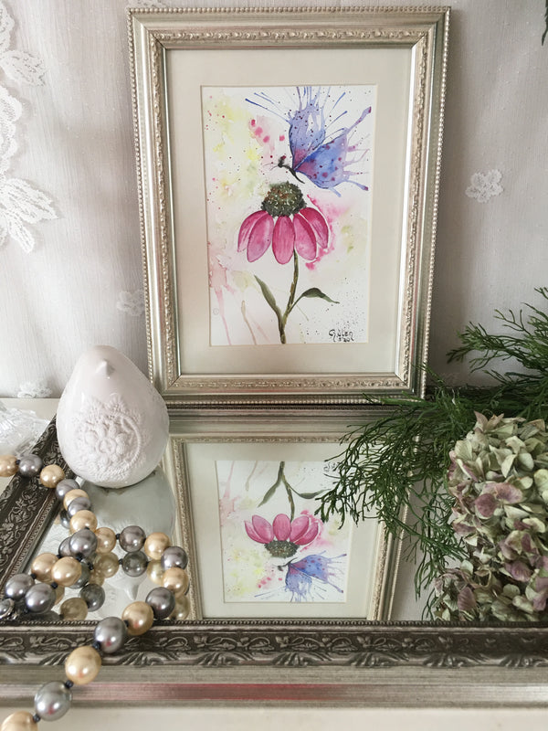 Dream of Butterfly Watercolor Painting | FeelHeal.me