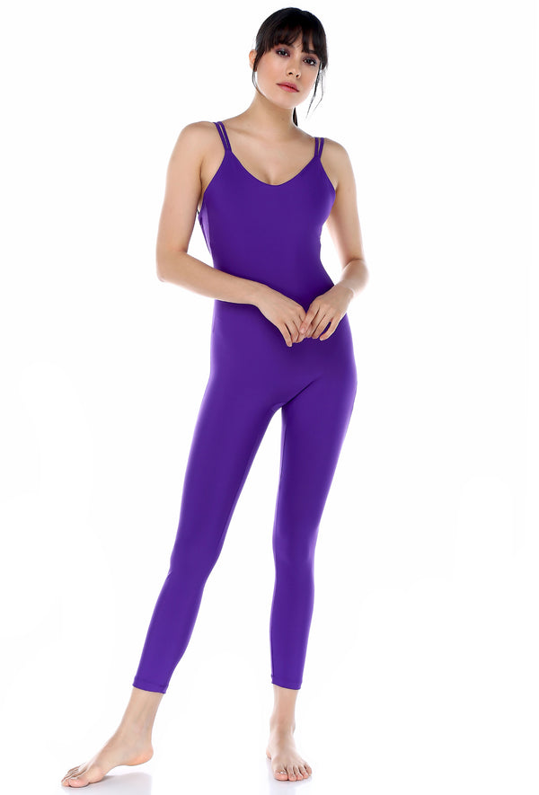 Catsuit Purple Jumpsuit | FeelHeal.me