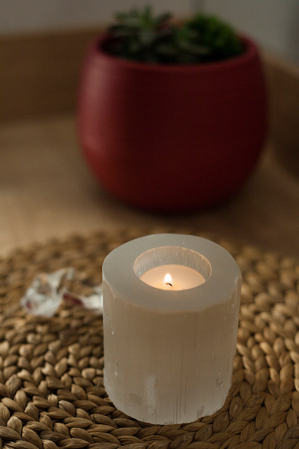 SELENITE CANDLE | FeelHeal.me