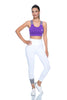 Back Decolette Sports Bra Purple | FeelHeal.me