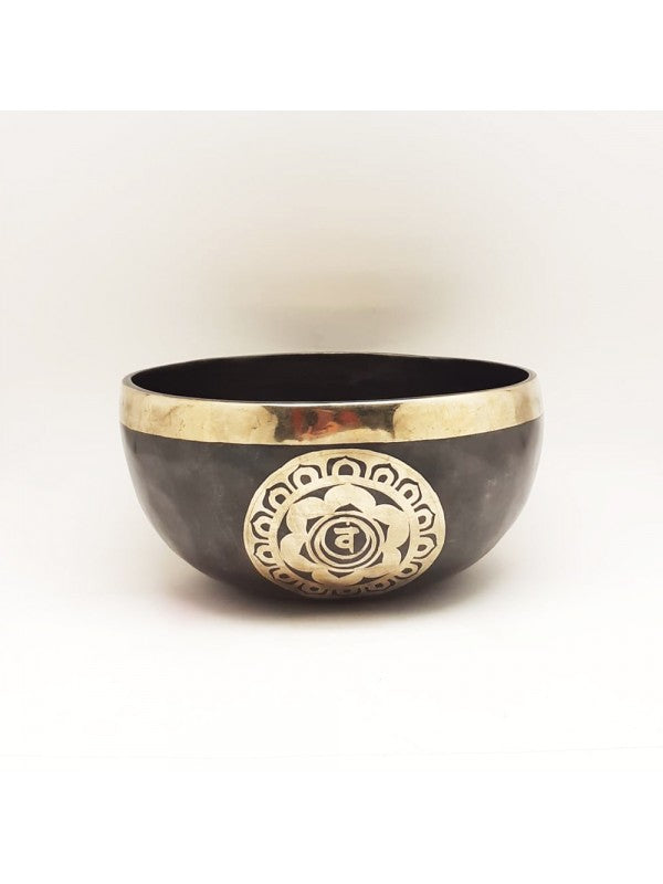 Black Embroidered Bowl 18 cm | FeelHeal.me