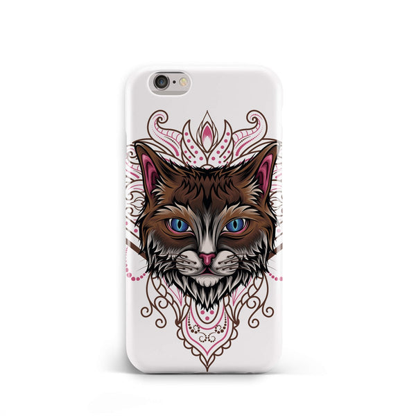 iPhone 6-6s Ethnic Mandala Blue Eyed Cat Phone Case | FeelHeal.me