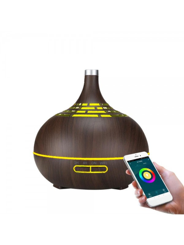 Smart Wifi Aroma Diffuser (Dark Wood) | FeelHeal.me