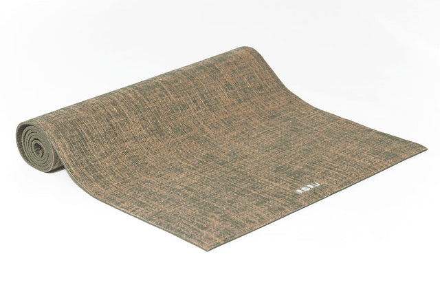 Natural Series Jute Top Layer Yoga Mat - MOSS GREEN | FeelHeal.me