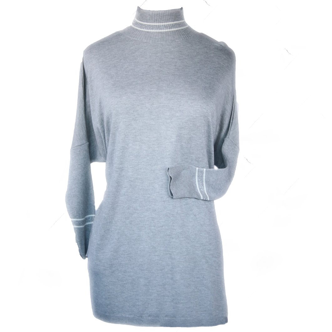 3/4 Sleeve Turtleneck Tunic