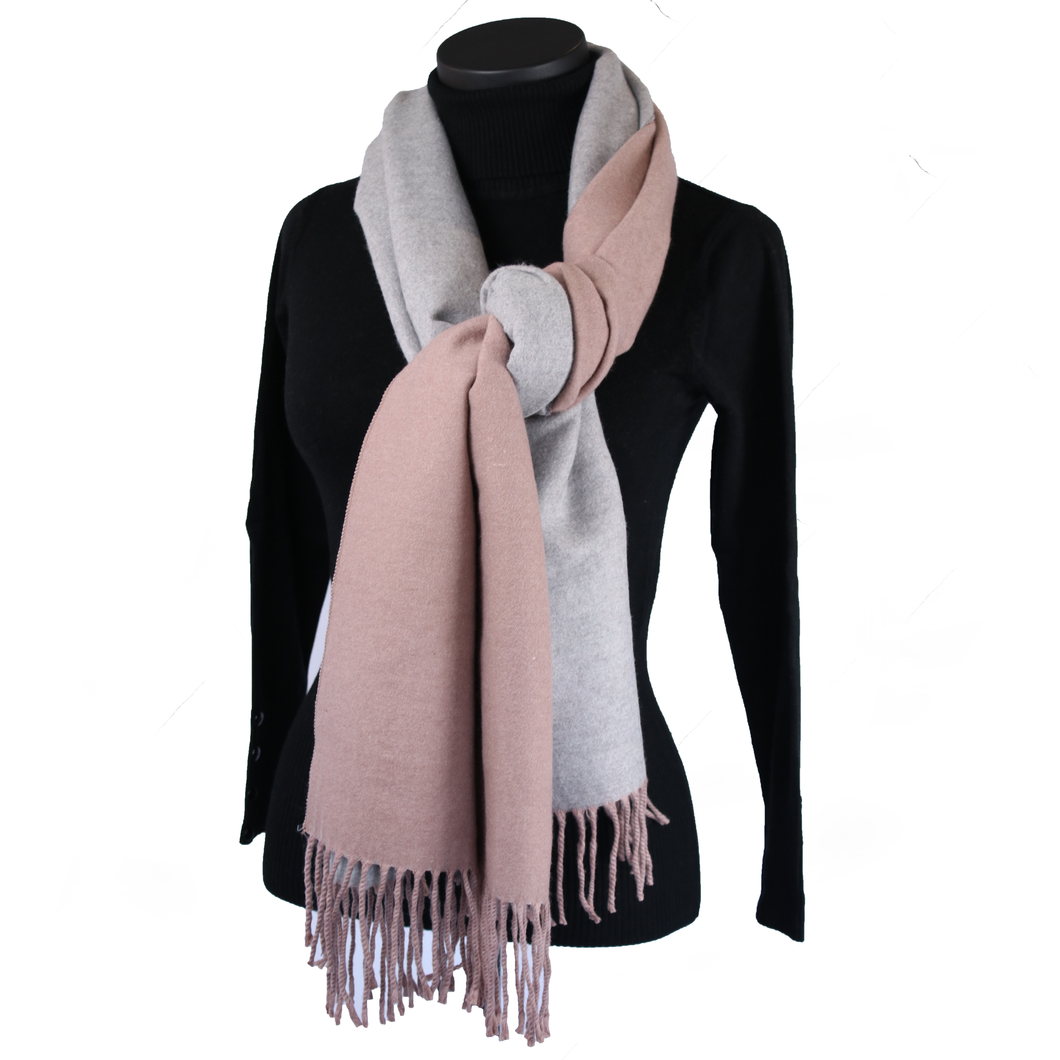 Reversible Blush Pashmina
