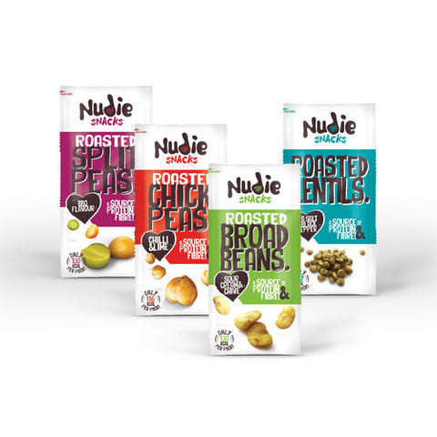 Nudie Snacks roasted pulses range of products