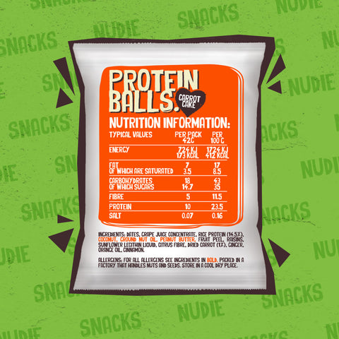 Nudie Snacks Plant Based Protein Balls Selection Box