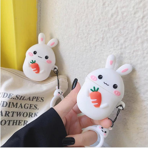 Cute Bunny Rabbit Airpod Case Cover