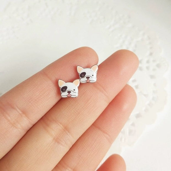 Kawaii French Bulldog Bichon Maltese Corgi Samoyed Husky Toy Poodle Earring Studs