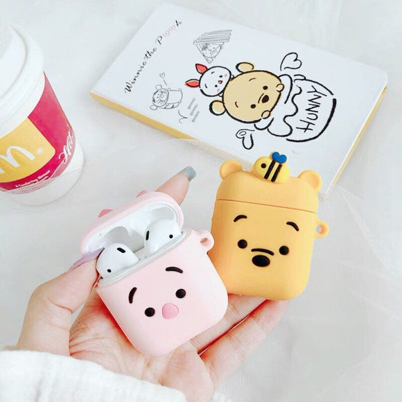 Kawaii Winnie The Pooh and Piglet Airpods and Airpods Pro Case