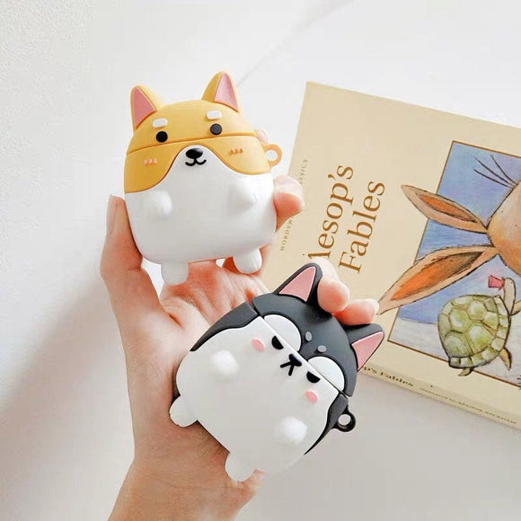 Husky and Shiba Inu Cute Puppy Airpod Case