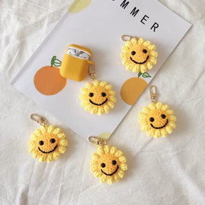 Knitted Airpods Case and Charm Cute Sunflower