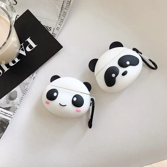 Kawaii Chibi Panda Airpods Case Cover